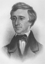 Rowse drawing of Thoreau 1854